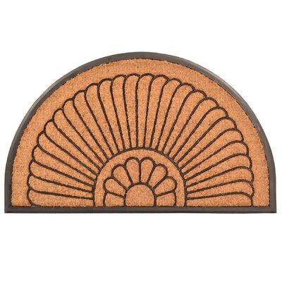 Design by AKRO Crescent Cocoa Doormat