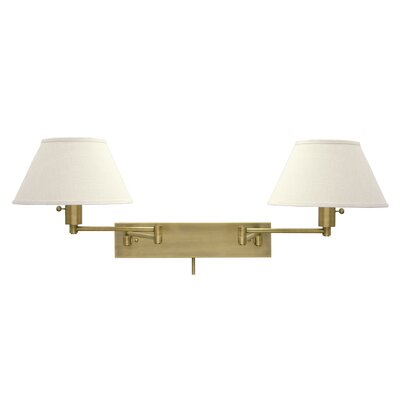 house of troy home office double swing arm wall lamp. Black Bedroom Furniture Sets. Home Design Ideas
