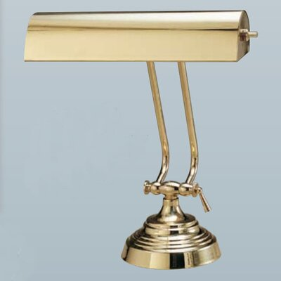 """House of Troy Circle Base Desk 10.5"""" H Table Lamp with Novelty Shade"""