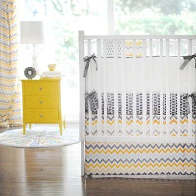 Mellow Yellow 3 Piece Crib Bedding Set by New Arrivals