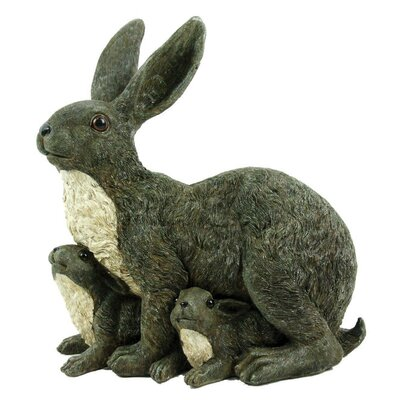 Michael Carr Mama Rabbit and Family Statue