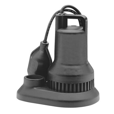 48 GPM Tether Float Switch Thermoplastic Sump Pump by WAYNE