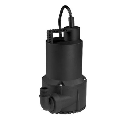 1/6 HP Oil-Free Thermoplastic Submersible Utility Pump by WAYNE