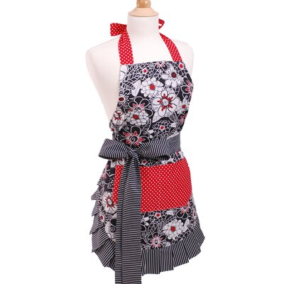 Flirty Aprons Women's Apron in Scarlet Blossom