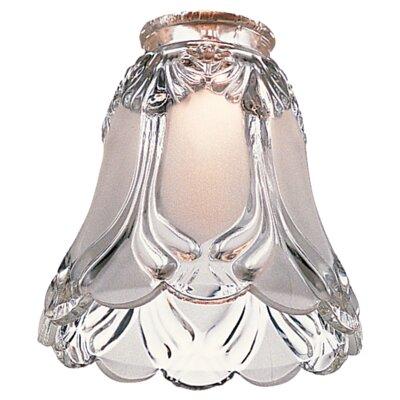 """Monte Carlo Fan Company 4.75"""" Glass Bell Ceiling Fan Fitter Shade"""