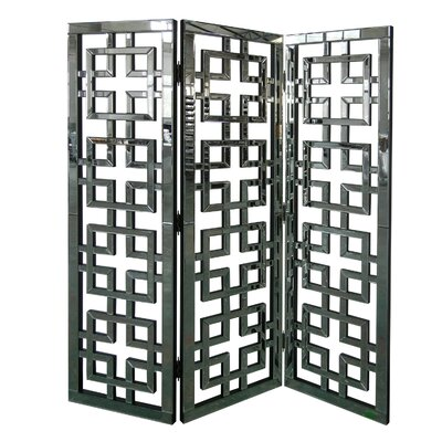 Hollywood Geometric Mirror Screen Room Divider by Crestview