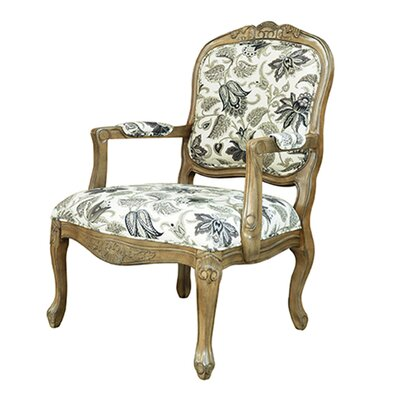 Huntley Pattern Fabric Arm Chair by Crestview