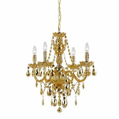 Naples Elements 4 Light Crystal Chandelier by AF Lighting