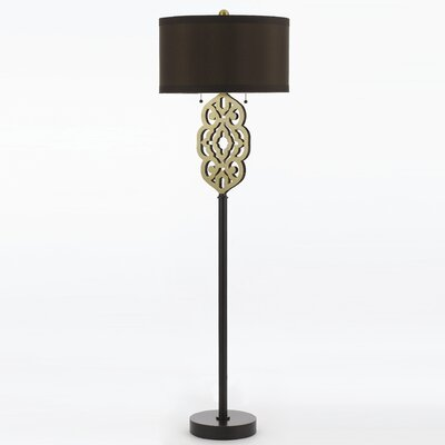 AF Lighting Candice Olson Grill 2 Light Floor Lamp
