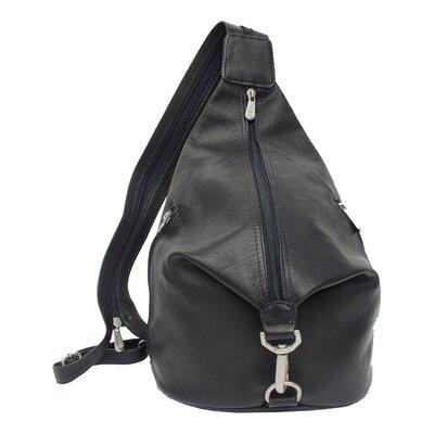 Fashion Avenue Three-Zip Hobo Sling Backpack by Piel