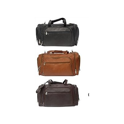 """Piel Leather 20"""" Leather Multi-Compartment Carry-On Duffel"""