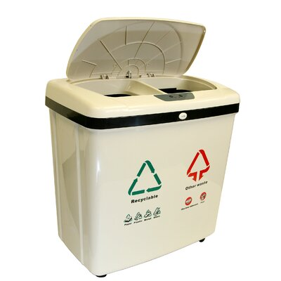 iTouchless 16-Gal Automatic Multi Compartment Recycling Bin