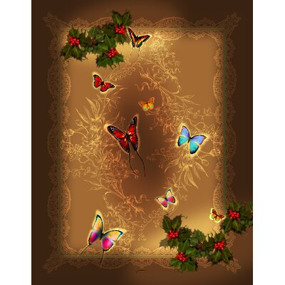 Holiday Happiness Butterflies Throw by Lama Kasso