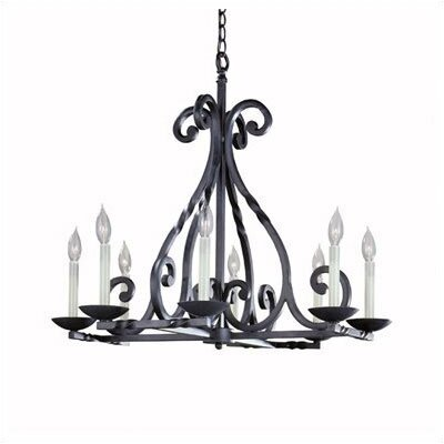 Iron Lanterns 8 Light Chandelier by World Imports Lighting