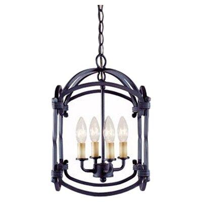 Iron 4 Light Outdoor Hanging Lantern/Pendant Product Photo