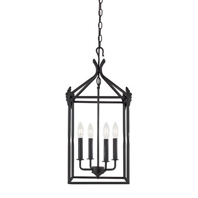 World Imports Iron 4 Light Outdoor Hanging Lantern