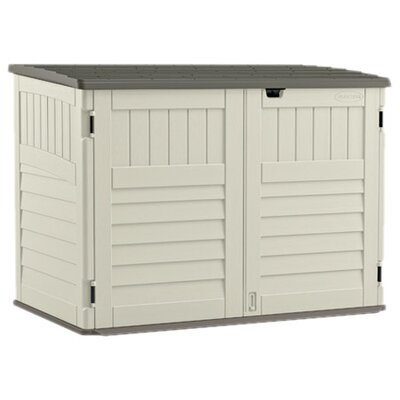 5 ft. 10 in. W x 3 ft. 8 in D Plastic Storage Shed