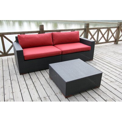 Pasadina Deep Seating Sofa with Cushions and Coffee Table by Bellini