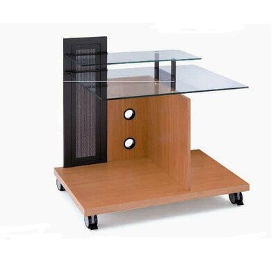 New Spec Inc Protable Glass and MDF Computer Desk
