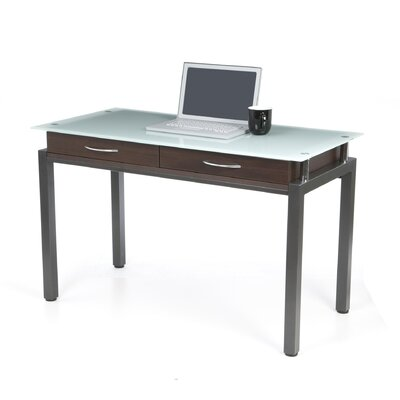 New Spec Writing Desk with Glass Top & Reviews