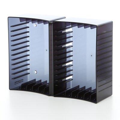 Disc Module 12 DVD/26 CD Multimedia Tabletop Storage Rack by Atlantic