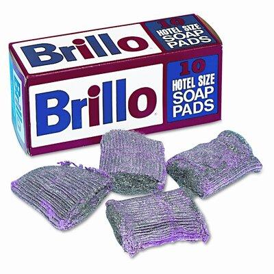 Brillo Steel Wool Soap Pad, 10/box