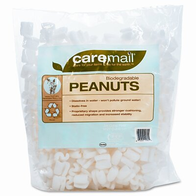 Caremail CareMail Biodegradable Peanuts, .31 Cubic Feet