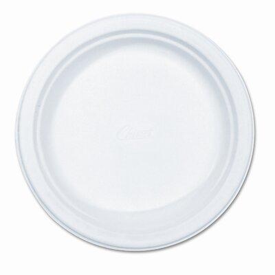 """Chinet Paper Dinnerware, Plate, 8-3/4"""" Diameter, White, 500 per Carton"""