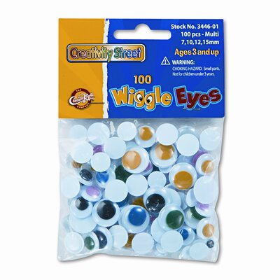 Creativity Street® Wiggle Eyes Assortment, Assorted Colors, 100 Pieces per Pack