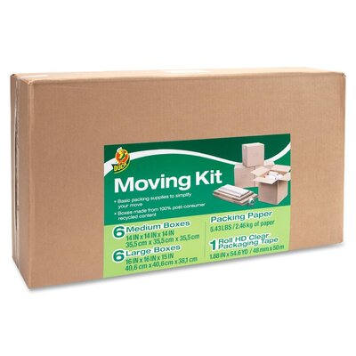 "Duck® Moving Kit (17.8"" H x 32"" W x 7"" D)"