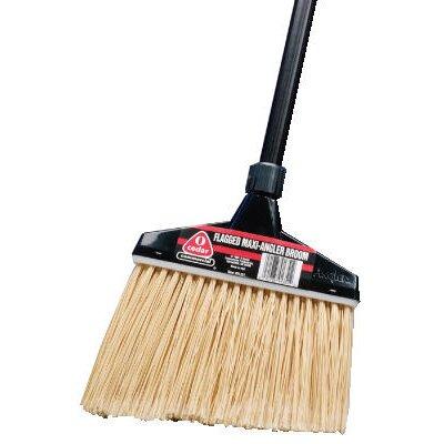 O-Cedar Commercial Maxi-Angler Broom in Black