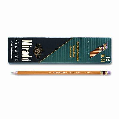 Paper Mate Mirado Woodcase Pencil, F #2.5, Yellow Barrel, 12 per pack