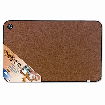 Post-it® Sticky Cork Self-Stick Wall Mounted Bulletin Board, 3' x 2'