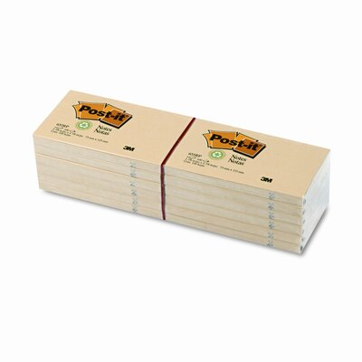 Post-it® Greener Recycled Note Pad