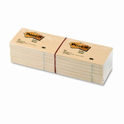 Post-it® Original Note Pad,  3 X 5, 12 100-Sheet Pads/Pack