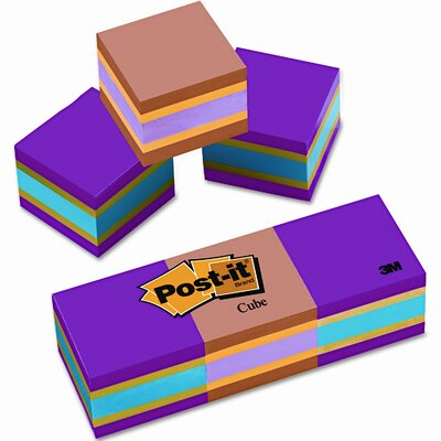 Post-it® Mini Cubes Note Pad, 3 Pack