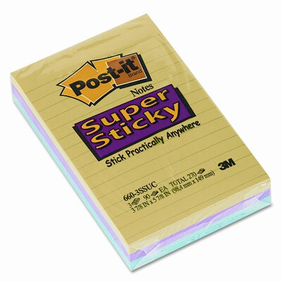 Post-it® Super Sticky Jewel Pop Note Pad, 3 Pack