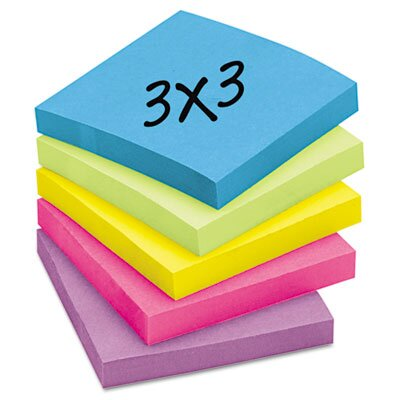 Post-it® Ultra Color Notes, 3 x 3, Five Colors, 14 100-Sheet Pads/pack