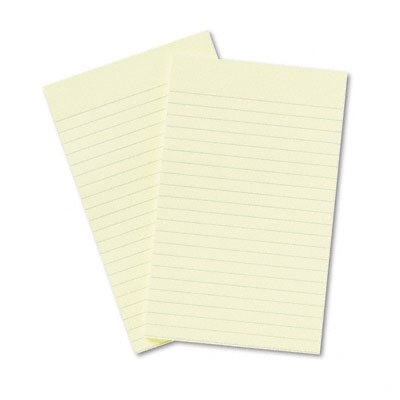 Post-it® Original Notes, 5 x 8, Canary Yellow, Two 50-Sheet Pads/pack