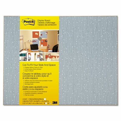 Post-it® Frameless Display Wall Mounted Bulletin Board, 2' x 2'