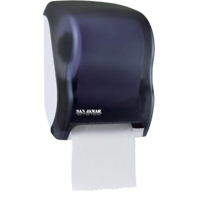 San Jamar Electronic Touchless Roll Towel Dispenser in Black
