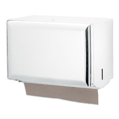 San Jamar Standard Key-Lock Single fold Towel Dispenser in White