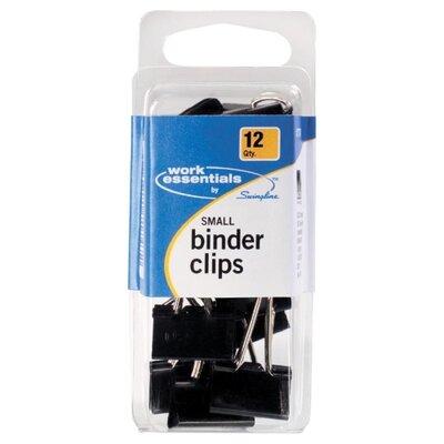 Swingline Small Binder Clip, Scratch Resistant, 12 per Pack, Black
