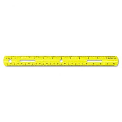 Westcott Plastic Ruler, 12in/30cm, Assorted Colors