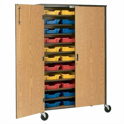 """Fleetwood 72"""" H Tote Storage Cabinet with Optional Trays"""