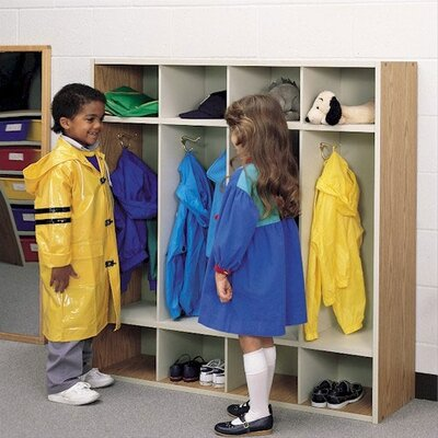 Fleetwood 1 Tier 4-Section Children's Coat Locker
