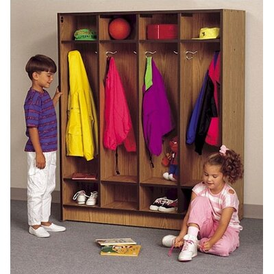 Fleetwood 1 Tier 4-Section Double Sided Student Locker
