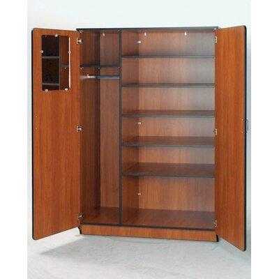 "Fleetwood Illusions 84"" H Teacher Wardrobe with Six Adjustable Shelves"