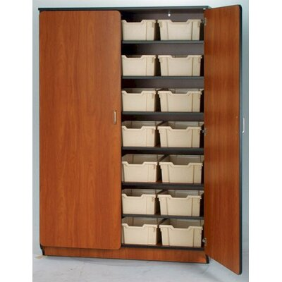 "Fleetwood Illusions 72"" H Tray Cabinet with Six Adjustable Shelves"