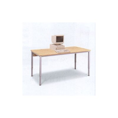 Fleetwood Short Training Table with Flip Top Wire Management and Adjustable Height